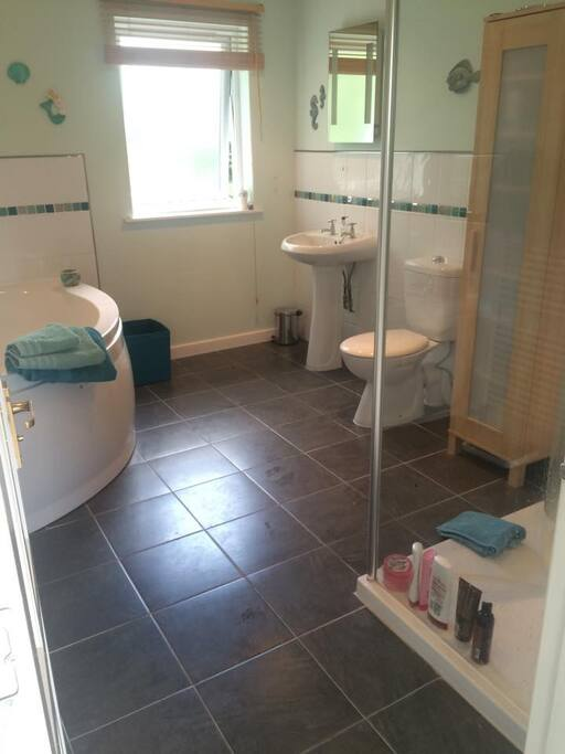 Large bath and shower
