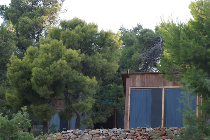 GLAMPING by the see in small wooden houses Athenes - Grammatiko - Muu