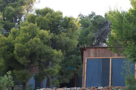 GLAMPING by the see in small wooden houses Athenes - Grammatiko - Egyéb