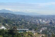 Hollywood and snow on San Bernardino mountains