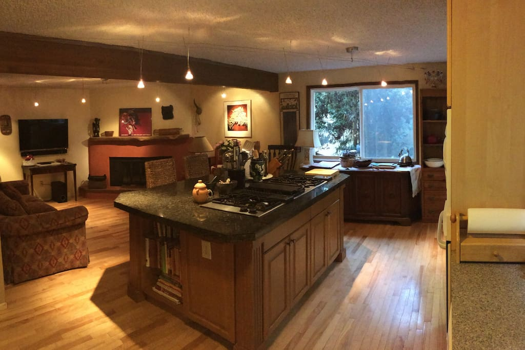 Gorgeous kitchen to cook your meals in. Beautiful spotlight lighting.