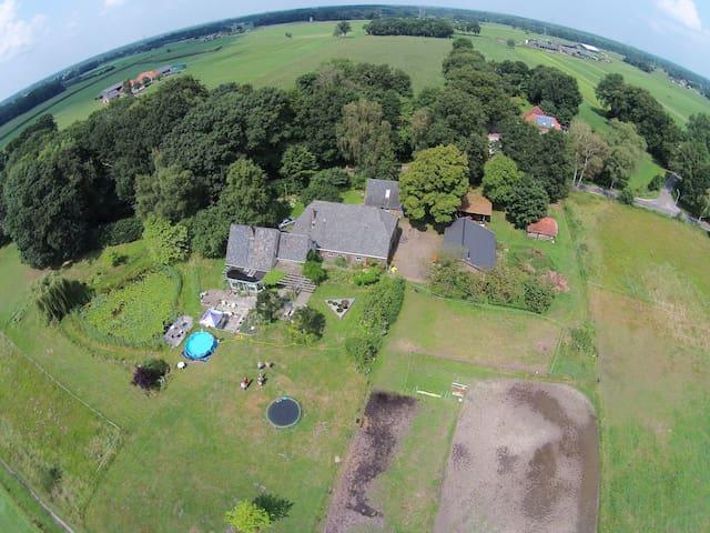 huisje grenzend aan landgoederen en golfbaan