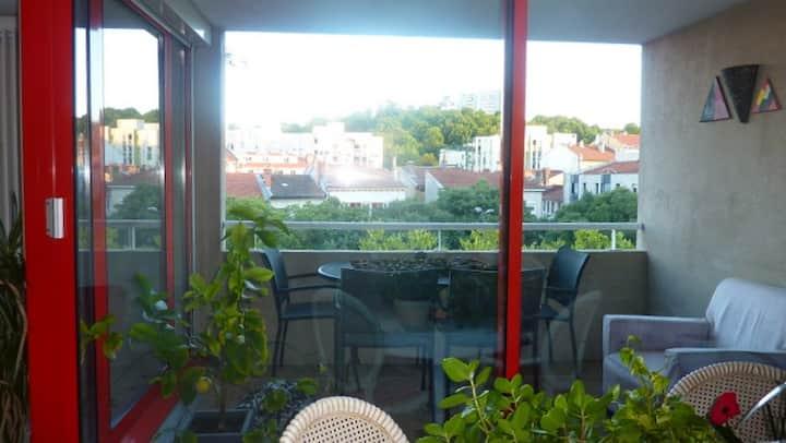 appartement T3 90m² avec garage