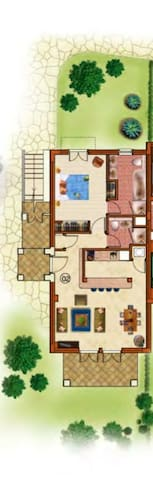 Floor plan of the appartment