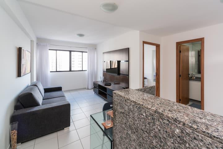 Flat 1 Dorm Parque da Jaqueira