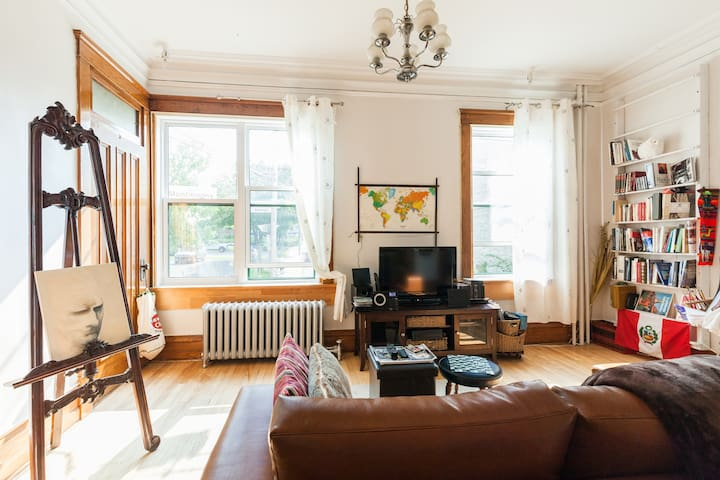 Grande chambre cozy avec velos - Quebec City
