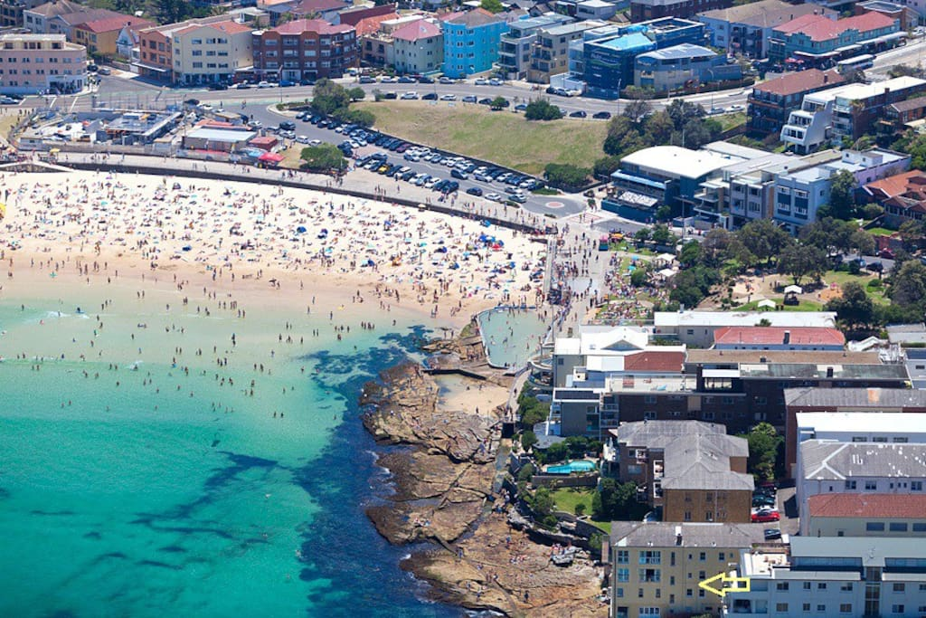 No building is closer to the water at Bondi Beach