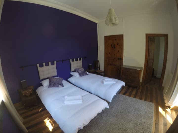 Spacious Room & adjoining Bunk Room - superb views