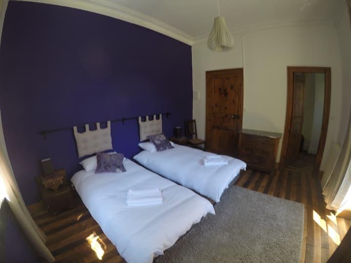 Spacious Room & adjoining Bunk Room - superb views