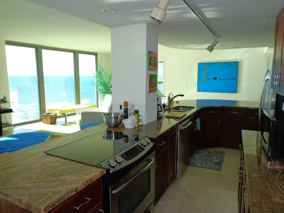 Open concept kitchen.  Great place to cook!