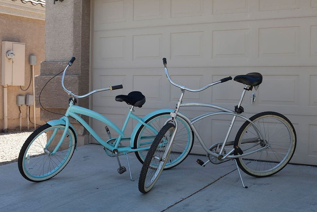 Our bikes are available to use.