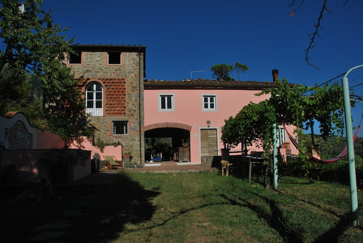 """La Mentuccia"" converted barn with a view of Lucca"