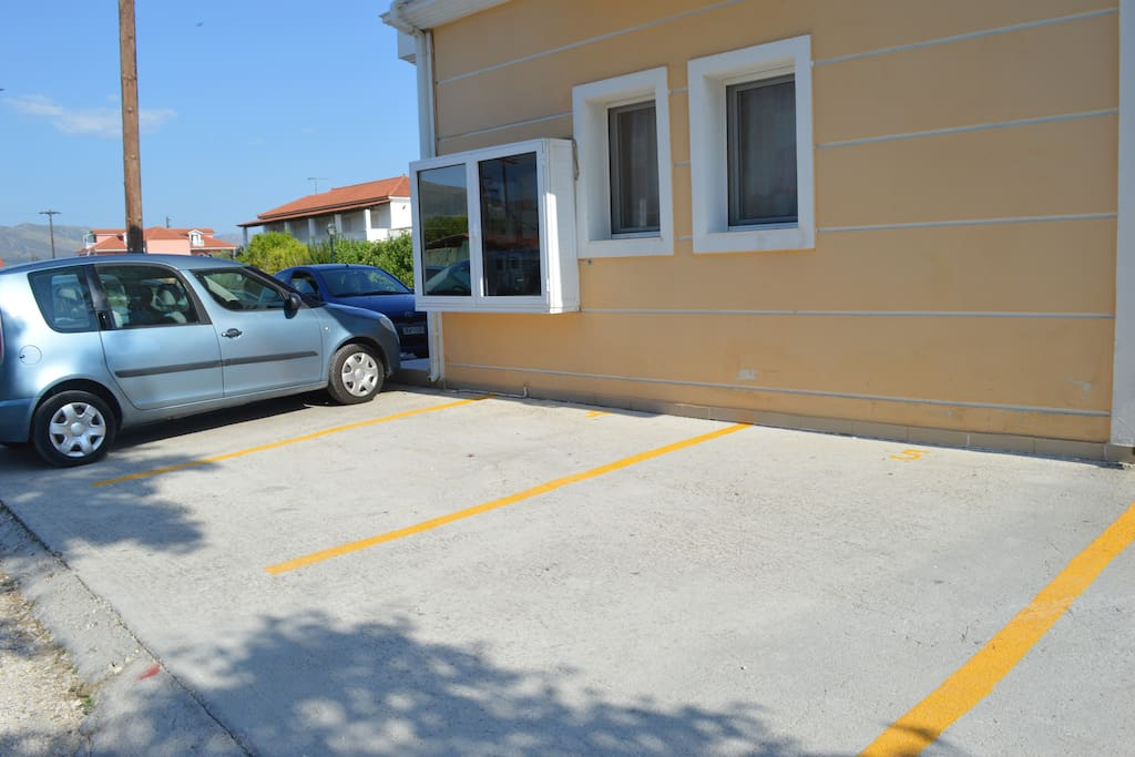 Designated parking included in rental