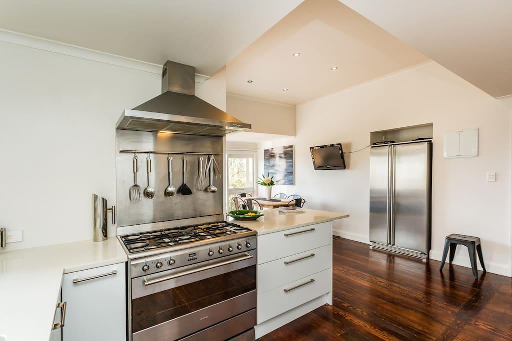 Modern kitchen with high end Smeg appliances