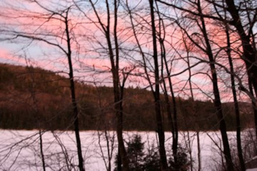 Sunset over the lake on New Year's (view from the back deck)