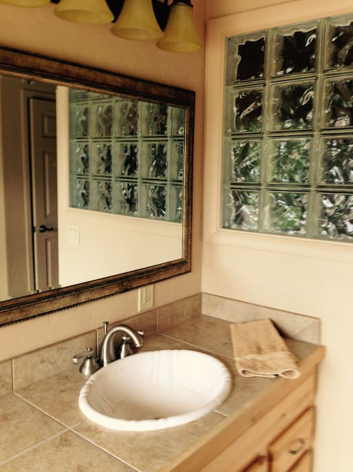 Large and bright master bath