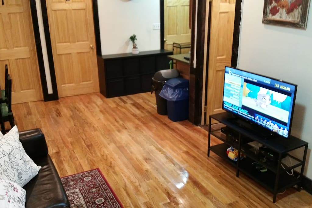 """42"""" HDTV in the Living room with full cable including HBO and Showtime"""