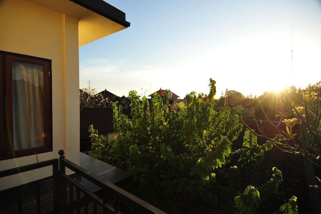 Enjoy the morning and sunset view from our balcony.