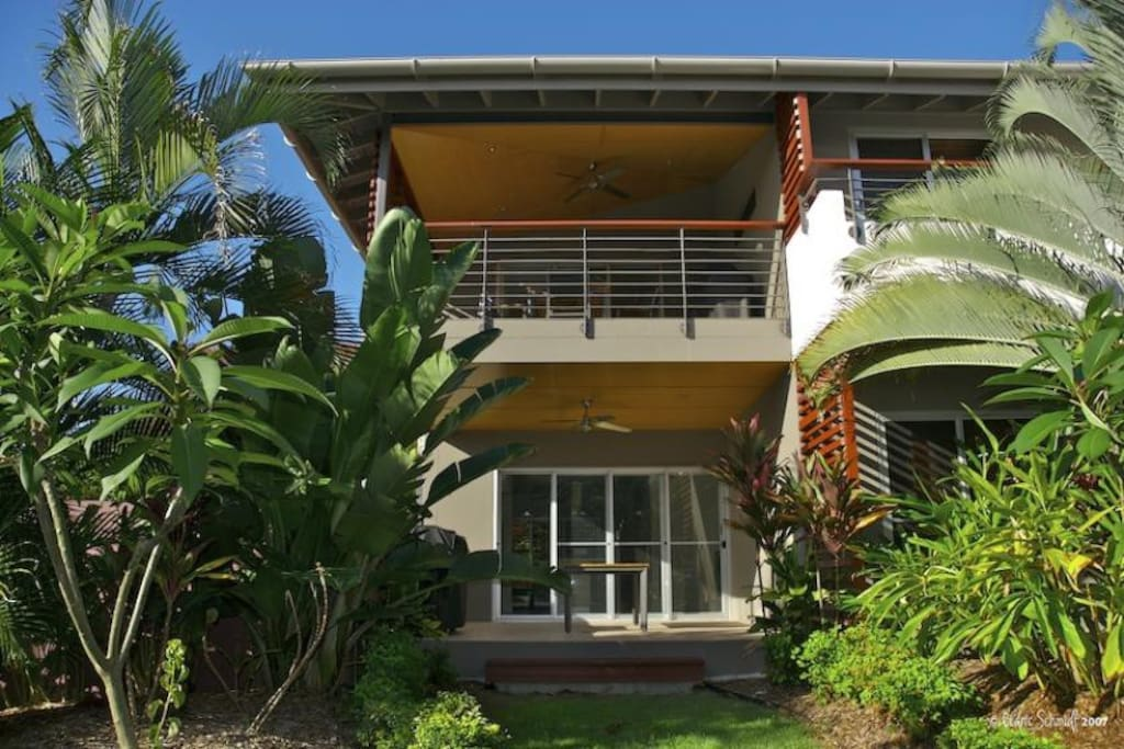 Asanti Beach House 24 upper level overlooking parklands & on-site gardens.