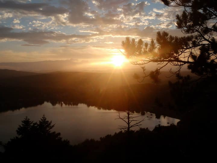 primitive camping with incredible views