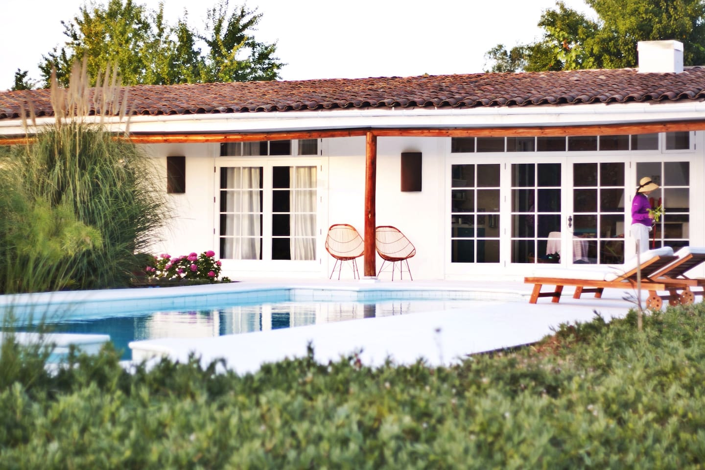 The house with private pool.