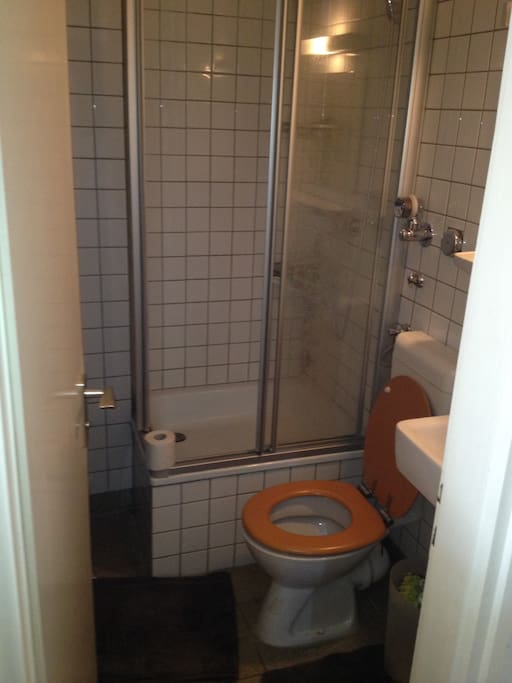 Bathroom - small but equipped with everything you need!