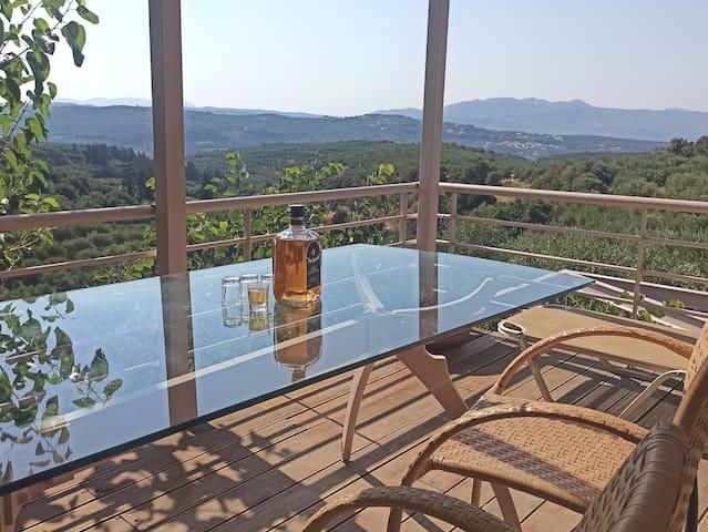 Private, eco friendly villa in Sirili.
