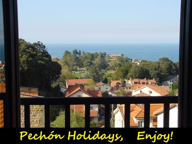 Pechon holidays, sea views 5 pax - Pechón