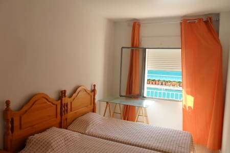In a shared flat nice bedroom, bathroom and kitchen , 10 min. from the roman theatre,etc