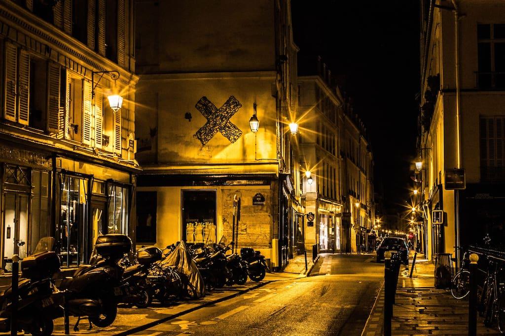 Neighborhood by night