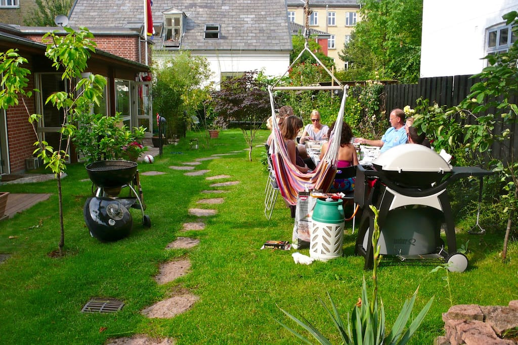 Shared garden and BBQ grill