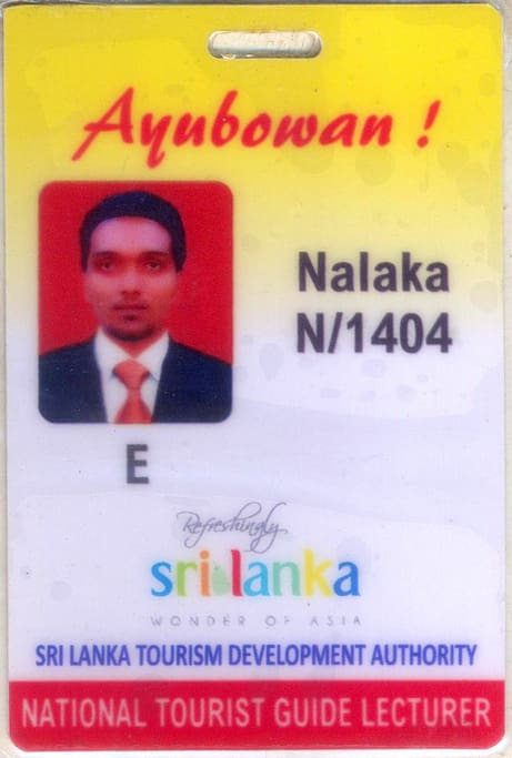My SriLankan National Guide License