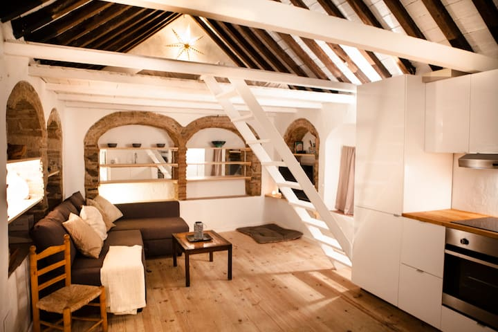 1 - STUDIO IN HISTORIC CENTRE WITH PRIVATE ROOFTOP - Tarifa - Lägenhet