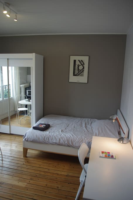 Here is your room It is clean, wide and clear with large windows and balcony.
