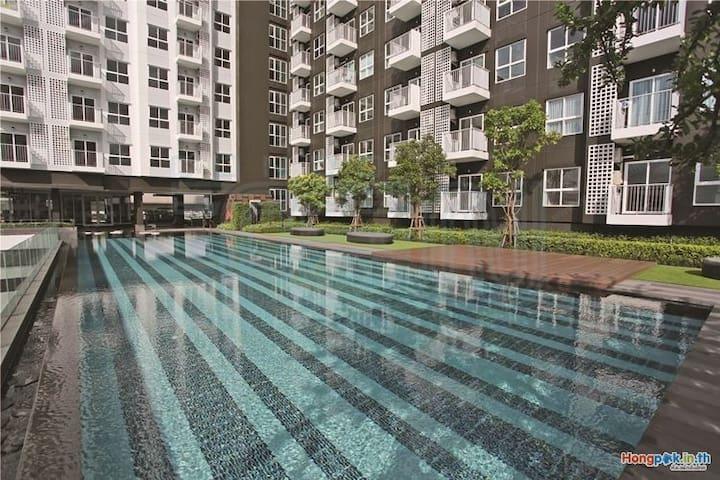 NEW! Fully furnish 1BR WIFI&WASHER! - Bangkok - Lägenhet