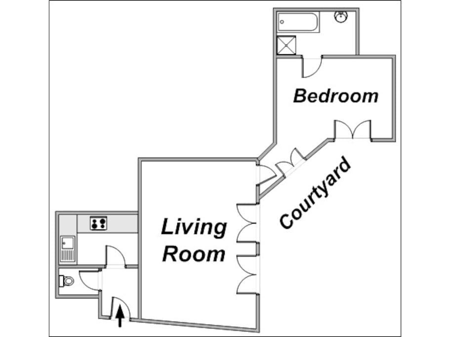 The apartment's disposition