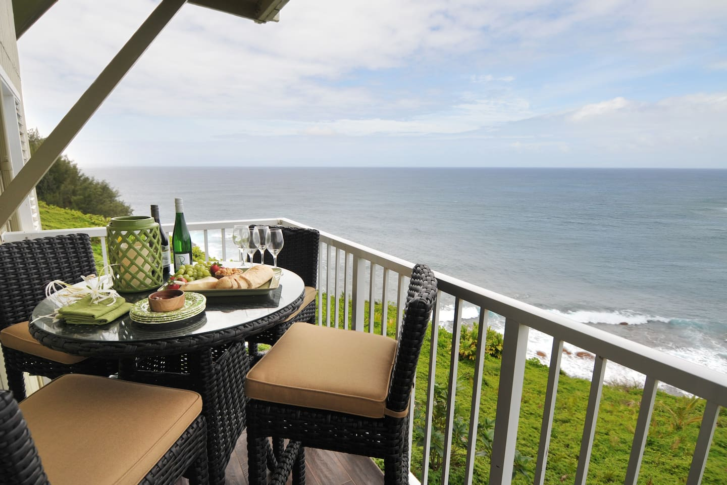 The lanai is the perfect place to enjoy a meal, a nap or good friends.
