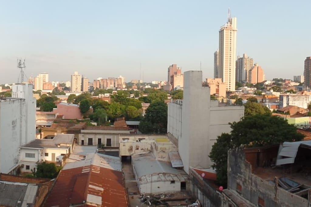 Hermosa vista al centro de Asunción.
