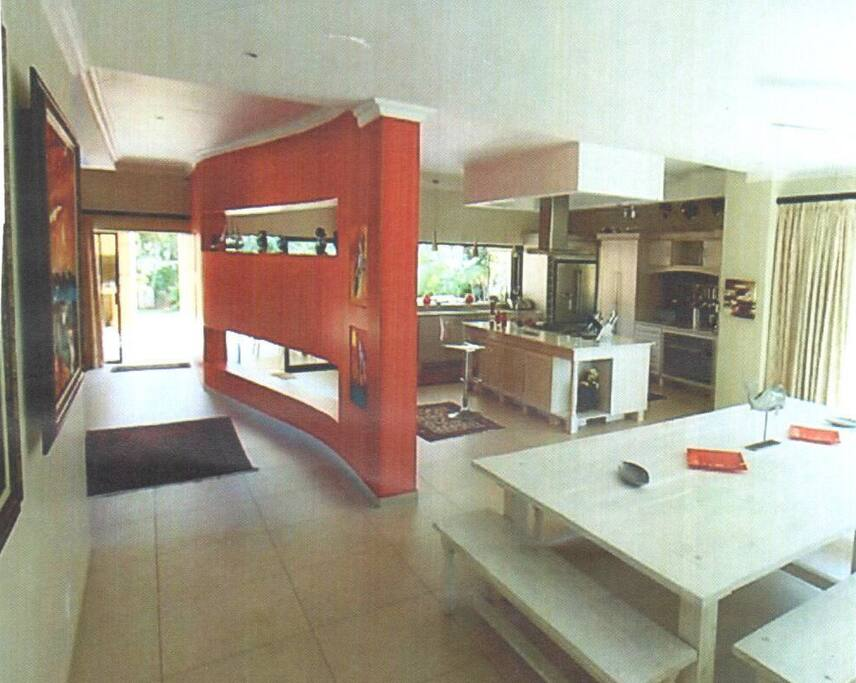 Kitchen and indoor dinning area