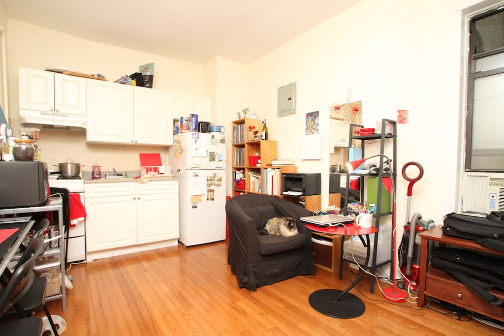 Kitchen, living room, dining room, music room, office, study, etc.