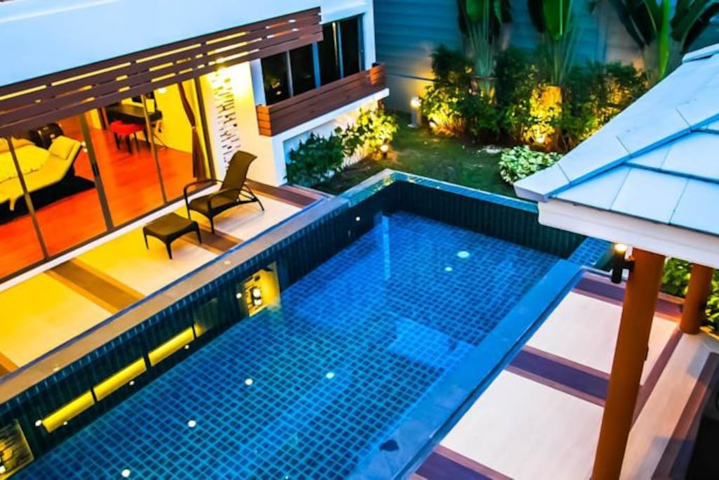 Swimming Pool looking from balcony of 2nd floor.