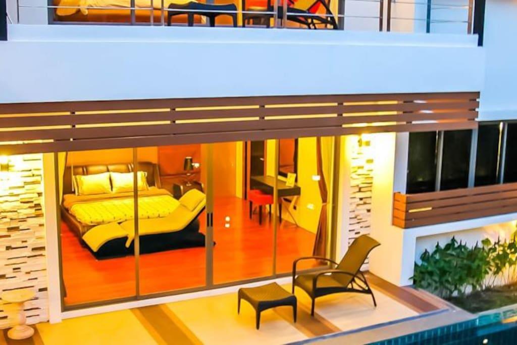 Master bedroom on the ground floor.