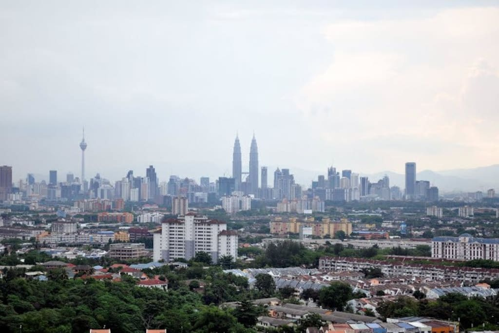 Breathtaking view of KL landscape on top of the hill