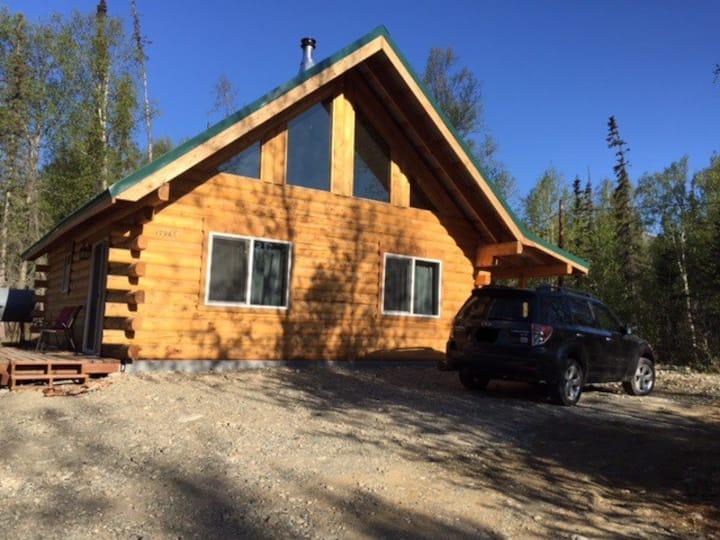 Log Home At The Lake Near Palmer