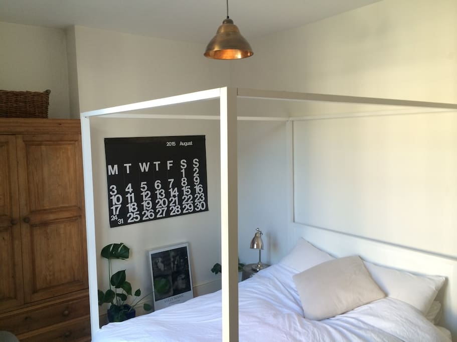 Available room, showing wardrobe and bed