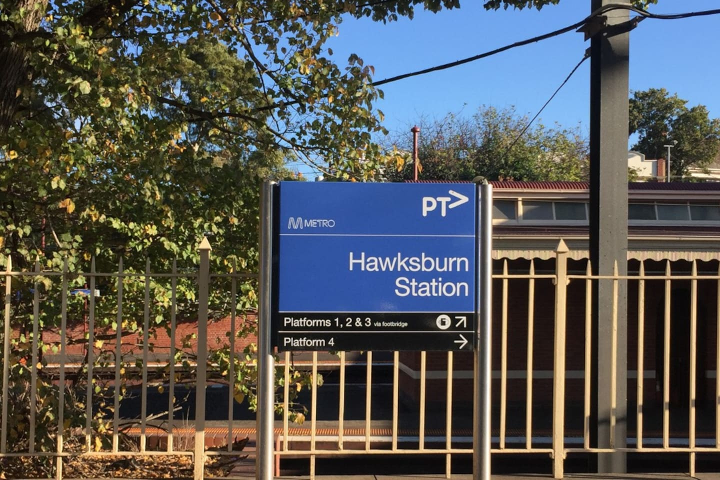 Hawksburn station a couple of minutes walk from the apartment