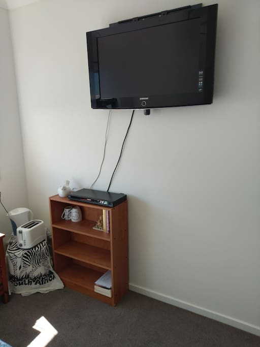 TV and DVD player available