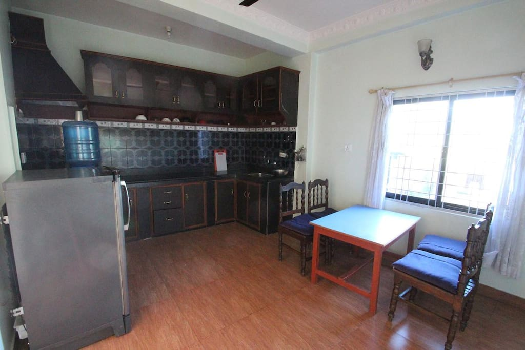 Kitchen in 1st floor apartment in Namaste Apartments house