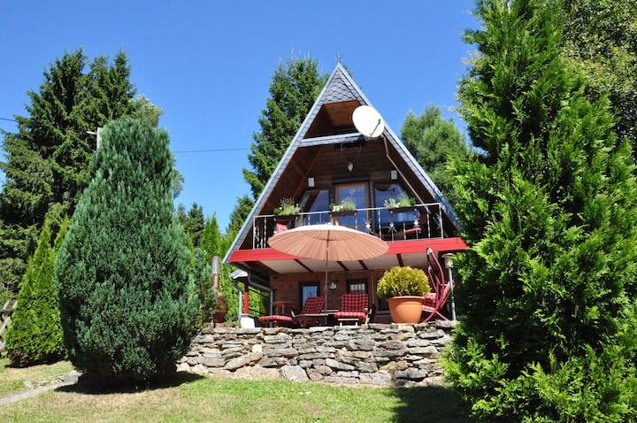 Finnhütte im Thüringer Wald/ Suhl, Haus Alwin