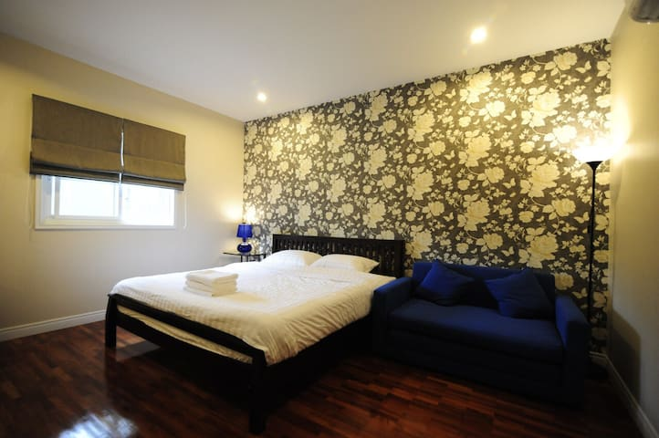 The 2nd bedroom with sofa bed for additional guests.